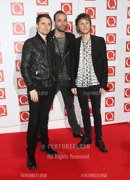 Muse arriving for The Q Awards 2012 held at the Grosvenor Hotel, London. 22/10/2012 Picture by: Henry Harris / Featureflash