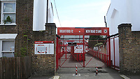 General view of the entrance to the New Road Stand during Brentford vs Swansea City, Sky Bet EFL Championship Play-Off Semi-Final 2nd Leg Football at Griffin Park on 29th July 2020