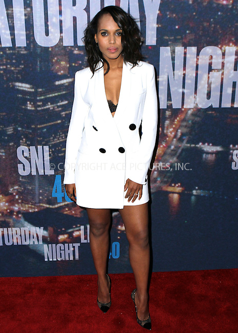 WWW.ACEPIXS.COM<br /> <br /> February 15 2015, New York City<br /> <br /> Kerry Washington arriving at the SNL 40th Anniversary Special at the Rockefeller Plaza on February 15, 2015 in New York<br /> <br /> By Line: Nancy Rivera/ACE Pictures<br /> <br /> <br /> ACE Pictures, Inc.<br /> tel: 646 769 0430<br /> Email: info@acepixs.com<br /> www.acepixs.com