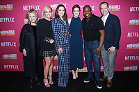 NEW YORK, NY - JUNE 3: Carol Kane, Jane Krakowski, Tina Fey, Ellie Kemper, Tituss Burgess and Robert Carlock  at NETFLIXFYSEE  Unbreakable Kimmy Schmidt For Your Consideration Event at DGA Theater on June 3, 2018 in New York City. <br /> CAP/MPI99<br /> &copy;MPI99/Capital Pictures