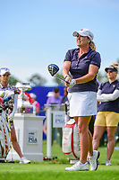 Cristie Kerr (USA) watches her tee shot on 1 during Thursday's round 1 of the 2017 KPMG Women's PGA Championship, at Olympia Fields Country Club, Olympia Fields, Illinois. 6/29/2017.<br /> Picture: Golffile | Ken Murray<br /> <br /> <br /> All photo usage must carry mandatory copyright credit (&copy; Golffile | Ken Murray)