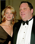 Miramax Films Co-chairman Harvey Weinstein and his wife, Eve Chilton Weinstein, arrive at the White House in Washington, DC for the State Dinner honoring Chinese President Jiang Zemin on October 29, 1997.<br /> Credit: Ron Sachs / CNP