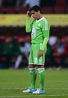 FUSSBALL   1. BUNDESLIGA  SAISON 2012/2013   3. Spieltag FC Augsburg - VfL Wolfsburg           14.09.2012 Fagner (VfL Wolfsburg)