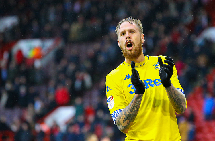 Leeds United's Pontus Jansson celebrates after the match<br /> <br /> Photographer Alex Dodd/CameraSport<br /> <br /> The EFL Sky Bet Championship - Sheffield United v Leeds United - Saturday 1st December 2018 - Bramall Lane - Sheffield<br /> <br /> World Copyright © 2018 CameraSport. All rights reserved. 43 Linden Ave. Countesthorpe. Leicester. England. LE8 5PG - Tel: +44 (0) 116 277 4147 - admin@camerasport.com - www.camerasport.com