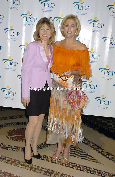 Donna Hanover and Tonja Walker..at the United Cerebral Palsy's Fourth Annual Women Who Care Luncheon on May 5, 2005 at Cipriani 42nd Street. ..Photo by Robin Platzer, Twin Images