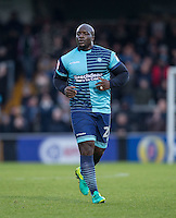 Adebayo Akinfenwa of Wycombe Wanderers during the Sky Bet League 2 match between Wycombe Wanderers and Yeovil Town at Adams Park, High Wycombe, England on 14 January 2017. Photo by Andy Rowland / PRiME Media Images.