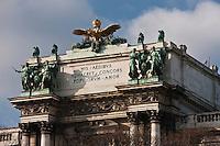 Europe/Autriche/Niederösterreich/Vienne: Détail façade du Neue-Burg sur le Burggarten dans le quartier de Hofburg