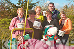 BED-PUSH: Preparing for the annual Chernobyl Bed-Push from Listowel to Tralee on Saturday 3rd May are l-r: Bridie Hussey, Joan Griffin, Mary Dolan, Tony Daughton, Ann Kelliher and Laura O'Callaghan. Resting in bed is Crena Daughton.   Copyright Kerry's Eye 2008