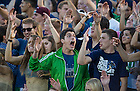 Sept. 6, 2014; Student section during the Michigan game. (Photo by Barbara Johnston/ University of Notre Dame