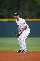 Lakeland Flying Tigers second baseman Joey Pankake (9) during a game against the Jupiter Hammerheads on March 14, 2016 at Henley Field in Lakeland, Florida.  Lakeland defeated Jupiter 5-0.  (Mike Janes/Four Seam Images)