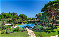 BNPS.co.uk (01202 558833)<br /> Pic: JohnTaylorCorporate/BNPS<br /> <br /> A stunning home on the French riviera which once belonged to the late George Michael is on the market.<br /> <br /> The Wham frontman owned the lavish property in Ramatuelle, near St Tropez, in his 1980s heyday.<br /> <br /> The six bedroom home, which was renovated in 2014, is on the market for &pound;10.3million (11.9 million euros).<br /> <br /> The villa, which is nestled close to the St Tropez and Pampelonne beaches, has a big swimming pool, a gym and sea views.