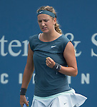 Victoria Azarenka (BLR), defeats Magdalena Rybarikova (SVK) 6-3, 6-4, at the Western & Southern Open in Mason, OH on August 15, 2013.