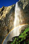 USA, California, Sierra Nevada Mountains. Bridalveil Fall Rainbow, Yosemite National Park, CA