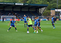 Wycombe Wanderers warming up before the Carabao Cup match between Wycombe Wanderers and Fulham at Adams Park, High Wycombe, England on 8 August 2017. Photo by Alan  Stanford / PRiME Media Images.