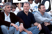 Pink Floyd - L-R: Rick Wright, David Gilmour, Nick Mason - Photocall with children from the Great Ormond Street Hospital to support fund raising held at Earls Court Arena, London UK - 12 Oct 1994.   Photo credit: George Chin/IconicPix