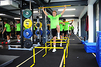 George Byers of Swansea City in the gym during the Swansea City Training at The Fairwood Training Ground in Swansea, Wales, UK. Wednesday 07 August 2019