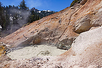 Boiling mud pot at the Sulphur Works in Lassen Volcanic National Park.