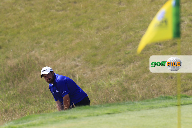 Shane LOWRY (IRL) prepares to chip onto the 6th green during Friday's Round 2 of the 97th US PGA Championship 2015 held at Whistling Straits, Mosel, Kohler, Wisconsin, United States of America. 14/08/2015.<br /> Picture Eoin Clarke, www.golffile.ie