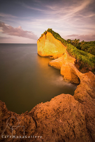 Headland near Columbus Bay Trinidad just off Venezuela, named the Serpent's Mouth by Columbus on his 3rd voyage in 1498.