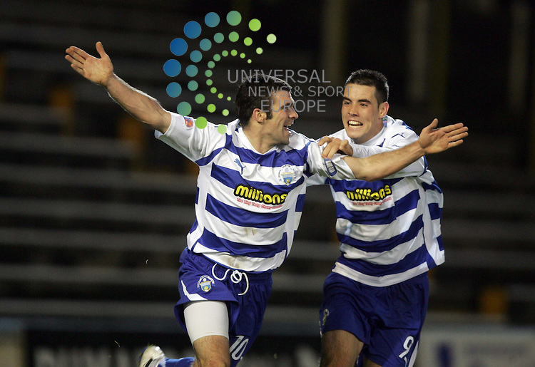 Stuart Keane (10) scores for Morton then gets his goal disallowed during the Morton v Dundee at Cappielow Park,Greenock..Picture: Universal News And Sport (Scotland).  7 December  2010..