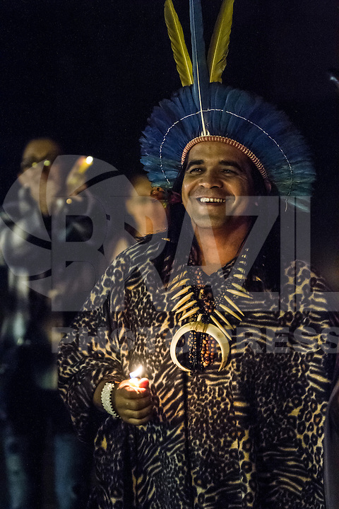 SANTO ANDRÉ, SP, 29.05.2015 - BRUXAS-SP - Cerimonia de abertura da 12ª Convenção das Bruxas que ocorre em Paranapiacaba em Santo André no ABC Paulista na noite desta sexta-feira, 29 (Foto: Marcelo Brammer/Brazil Photo Press)