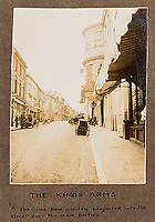 BNPS.co.uk (01202 558833)<br /> Pic: ForumAuctions/BNPS<br /> <br /> Dorchester High Street.<br /> <br /> Extraordinary photo album reveals Thomas Hardy as personal tour guide around his most famous novel.<br /> <br /> A personalised photograph album documenting a guided tour of 'Casterbridge' that novelist Thomas Hardy gave a literary friend has emerged almost 100 years later.<br /> <br /> The famous author showed playwright John Drinkwater the real-life locations that inspired him to write the classic 1886 novel The Mayor of Casterbridge.<br /> <br /> Mr Drinkwater took photographs of various venues that feature prominently in the novel.<br /> <br /> He also captured some of the last images of Hardy who died two years later.
