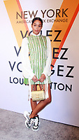 NEW YORK, NY October 26, 2017 Laura Harrier attend  Volez Voguez Voyagez x Louis Vuitton - Exhibition Preview at the Former America Stock Exchanging Build in New York October 26,  2017. Credit:RW/MediaPunch /NortePhoto.com