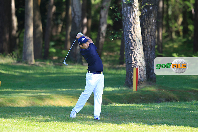 Alexander Levy (FRA) during round 1 of the 2015 BMW PGA Championship over the West Course at Wentworth, Virgina Water, London. 21/05/2015<br /> Picture Fran Caffrey, www.golffile.ie: