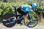Pello Bilbao Lopez De Armentia (ESP) Astana in action during Stage 16 of the 2017 La Vuelta, an individual time trial running 40.2km from Circuito de Navarra to Logro&ntilde;o, Spain. 5th September 2017.<br /> Picture: Unipublic/&copy;photogomezsport | Cyclefile<br /> <br /> <br /> All photos usage must carry mandatory copyright credit (&copy; Cyclefile | Unipublic/&copy;photogomezsport)