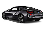 Car pictures of rear three quarter view of a 2019 BMW i8 Base 2 Door Coupe angular rear