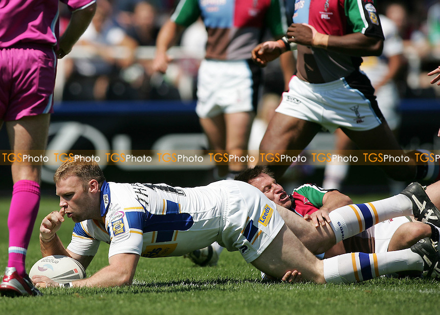 Jamie Thackray of Leeds Rhinos scores a first half try - Harlequins RL vs Leeds RL at The Stoop, Twickenham - 05/08/07 - MANDATORY CREDIT: Rob Newell/TGSPHOTO