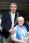 Olive Reynolds, John Paul Court with Mayor Sean Collins at the Lord Mayor's Millenium Party in the Bridgeford Leisure Centre..Picture Paul Mohan Newsfile