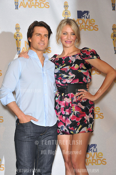 Cameron Diaz & Tom Cruise at the 2010 MTV Movie Awards at the Gibson Amphitheatre, Universal Studios, Hollywood..June 6, 2010  Los Angeles, CA.Picture: Paul Smith / Featureflash