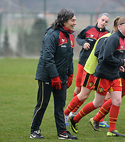 20140209 - TUBIZE , BELGIUM : Feriana / Fery Ferraguzzi pictured during a friendly soccer match between the Under 19 ( U19) women teams of Belgium and The Netherlands , Sunday 9 February 2014 in Tubize . PHOTO DAVID CATRY