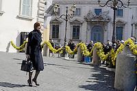 """Roma, 7 Marzo 2015<br /> Quirinale.<br /> Giornata internazionale dela donna, <br /> celebrazione dedicata al tema """"Donne per la Terra"""".<br /> Nalla foto Renata Polverini"""
