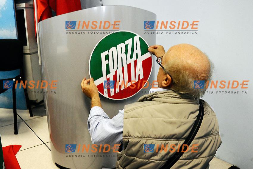 """Milano 20/09/2013 Viale Monza<br /> conferenza stampa 'Da Pdl a Forza Italia' <br /> Press conference """"From PDL to Forza Italia"""" <br /> foto Andrea Ninni/Image/Insidefoto"""
