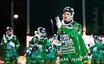 Stockholm 2014-12-02 Bandy Elitserien Hammarby IF - IFK V&auml;nersborg :  <br /> Hammarbys Adam Gilljam tackar publiken efter matchen mellan Hammarby IF och IFK V&auml;nersborg <br /> (Foto: Kenta J&ouml;nsson) Nyckelord:  Elitserien Bandy Zinkensdamms IP Zinkensdamm Zinken Hammarby Bajen HIF IFK V&auml;nersborg jubel gl&auml;dje lycka glad happy supporter fans publik supporters