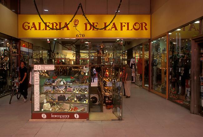 Galeria de la Flor Shopping Mall along Calle Florida, Buenos Aires, Buenos Aires Province, Argentina, South America