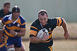 Two try man Kevin Farrell makes one of his telling breaks upfield. CMRFU Counties Power Premier Club Rugby game between Patumahoe & Pukekohe played at Patumahoe on April 12th, 2008..The halftime score was 10 all with Pukekohe going on to win 23 - 18.