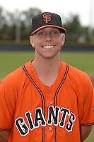 San Francisco Giants pitcher Nick Vander Tuig (21) poses for a photo after an Instructional League game against the SK Wyverns on October 17, 2014 at Giants Baseball Complex in Scottsdale, Arizona.  (Mike Janes/Four Seam Images)