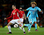 Henrikh Mkhitaryan of Manchester United and Miguel Nelom of Feyenoord during the UEFA Europa League match at Old Trafford, Manchester. Picture date: November 24th 2016. Pic Matt McNulty/Sportimage