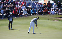 A flat day for Henrik Stenson (SWE); putts out on the 8th during Round Two of the 2015 Nordea Masters at the PGA Sweden National, Bara, Malmo, Sweden. 05/06/2015. Picture David Lloyd | www.golffile.ie