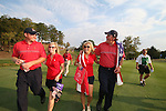 Phil Mickelson and wife Amy (Left with JB Holmes and Sarah walking up the 18th fairway after USA winning the final round of Single Matches at The 37th Ryder cup from Valhalla Golf Club in Louisville, Kentucky....Photo: Fran Caffrey/www.golffile.ie.