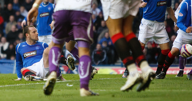 Kris Boyd opens the scoring for Rangers to equalise