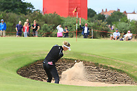 Nelly Korda (USA) plays out of a bunker onto the 4th green during Round 3 of the Ricoh Women's British Open at Royal Lytham &amp; St. Annes on Saturday 4th August 2018.<br /> Picture:  Thos Caffrey / Golffile<br /> <br /> All photo usage must carry mandatory copyright credit (&copy; Golffile | Thos Caffrey)