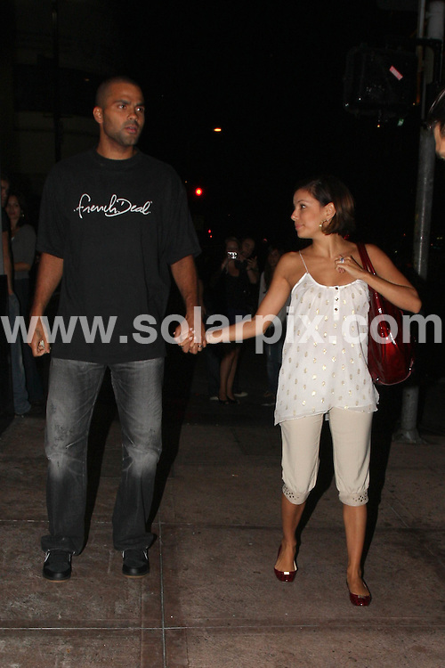 **ALL ROUND PICTURES FROM SOLARPIX.COM**.**WORLDWIDE SYNDICATION RIGHTS**.**NO PUBLICATION IN USA, DENMARK, GERMANY OR RUSSIA**.Eva Longoria and Tony Parker leaving Beso Restaurant in Hollywood.  Eva assists Tony with the winshield wiper blade malfunction. 19th August 2008..This pic: Eva Longoria and Tony Parker..JOB REF: 7063 LAP/TM Lancer      DATE: 19_08_2008.**MUST CREDIT SOLARPIX.COM OR DOUBLE FEE WILL BE CHARGED* *UNDER NO CIRCUMSTANCES IS THIS IMAGE TO BE REPRODUCED FOR ANY ONLINE EDITION WITHOUT PRIOR PERMISSION*