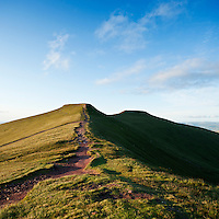 Pathway towards summit of Corn Du and Pen Y Fan, Brecon Beacons national park, Wales
