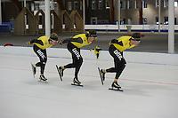 SCHAATSEN: LEEUWARDEN: 18-09-2015, Elfstedenhal, TopSport training, ©foto Martin de Jong