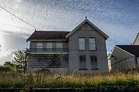 2019 10 08 The boarded-up house on Gorseinon Road, Penllergaer, Swansea, Wales, UK.