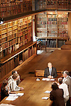 """Library of the Senat - Paris, France. July 4th 2006..Jean Pierre Elkabbach, the President of the French TV channel """"Public Senat"""", during the emission """"Bibliotheque Medicis""""..."""